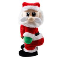 Wholesale home decor retail resale online - Retail Christmas Ornaments Home Decor Party Decoration Standing Electric Santa Claus Sing Dance Doll Birthday Gifts Toys