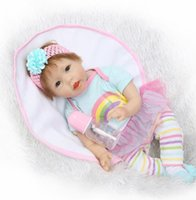 Wholesale reborn toddlers resale online - Soft silicone dolls reborn quot girl reborn dolls lovely princess newborn toddler doll children gift toys
