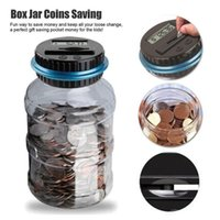 Wholesale coin counters resale online - Us Dollar Money Saving Jar Clear Digital Piggy Bank Coin Savings Counter Lcd Counting Money Jar Change Gift For Children
