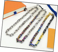 Fashion New Arrive Men 316L Titanium steel Engrave Four Leaf Flower Colored V Letter 18K Plated Gold Thick Necklaces