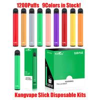 Authentic Kangvape Slick Plus Pod Disposable Kit 700mAh Battery 4ml Empty Pods 1200 Puff Device System Vape Pen Vs XXL 100% Original