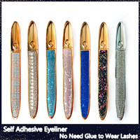 Self Adhesive Magic Eyeliner for False Eyelashes No Need Glue to Wear Lashes Liquid Eyeliner Strong Self-Adhesive Eyelash Eyeliner