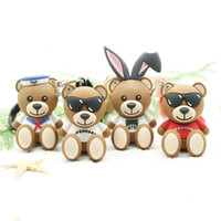 Wholesale keychains for kids for sale - Group buy String Bear Keychain Pendant Creative Cute Cartoon Glue Doll Keychains for Men Women Chain Car Key Ring Kid Gift Toy