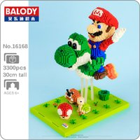 Wholesale mario blocks resale online - Balody Super Mario Fly Yoshi Goomba Koopa D Model DIY Mini Diamond Blocks Bricks Building Toy for Children no Box Q1126