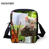 Wholesale shool bags resale online - INSTANTARTS Cute Animal Pig Brand Design Dandbags Shool Boys Girls Messenger Bags for Teenager Small Crossbody Bag