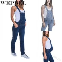 Wholesale maternity overalls resale online - Wepbel Women s Maternity Overalls Pregnant Breathable Long Casual Denim Jumpsuit Pregnancy Clothes Mom Jeans Bib Pants