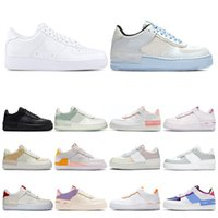 chaussures de skateboards achat en gros de-nike air force 1 af1 hommes femmes des chaussures course 1 type ombre Para-noise noir Summit White Mystic Bleu marine Air pâle Ivoire mens formateur mode sport baskets