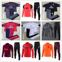 ingrosso calcio tuta adulta-Men adult 20 21 chandal barcelona real madrid Atletico Madrid psg jordan nike france 2020 2021 chandal futbol chándal de fútbol soccer tracksuit jacket football training suit