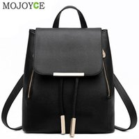 Wholesale japanese school supplies for sale - Group buy Black Supplies Female Pu Leather Backpack Japanese Street Women s School Bag for Adolescent Girls Backpacks