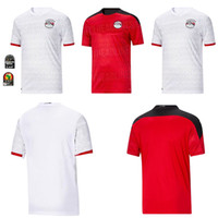 Wholesale salah soccer jersey resale online - 2020 Egypt soccer jersey M SALAH Home Red away white KAHRABA A HEGAZI RAMADAN M ELNENY uniforms jerseys men footbal shirts