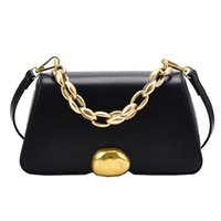 Wholesale women work bags resale online - Fashion Women Shoulder Bag Chain Simple Lady Crossbody Bag Small Female High Quality Work Bags PU Leather Easy To Clean