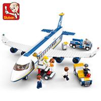 Wholesale sluban toys for sale - Group buy Sluban City Series Aviation Airport Modern Plane Bus Aircraft Airplane Technic Model DIY Building Blocks Toys For Children Kids Q1126