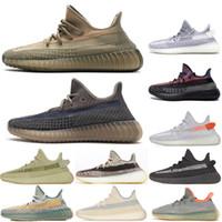 PK Quality Kanye West Sand Taupe Ashpea Men Women Running Shoes Designer Sneaker Fade Glow Cinder Natural Black Carbon Reflective Sport Shoe