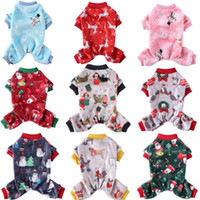 Wholesale dogs pajamas for sale - Group buy Christmas Pet Clothes Winter Dog Jumpsuit Fleece Warm Dog Pajamas Snowflake Elk Xmas Costume Puppy Overalls Chihuahua French