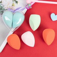 ingrosso super tagliato-Peach heart-shaped beauty egg super soft makeup sponge gourd puff water drop oblique cut puff wet and dry makeup tools free shipping