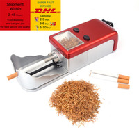 Wholesale free cigarette rolling machines for sale - Group buy 8mm Inject Tube Cigarette Electric Automatic Cigarette Rolling Machine Tobacco Roller Maker Accessories for Smoking Men Gift Free DHL Shippi