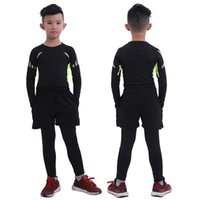 Wholesale boys running sets for sale - Group buy New Running Sets Kids Men s Sport Suit Jogging Boys Basketball Underwear Sportswear Gym Tights Soccer Tracksuit Training Clothes