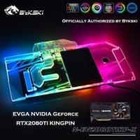 Wholesale nvidia graphics card resale online - Bykski N EV2080TIKP X Full Coverage GPU Water Block For EVGA NVIDIA RTX2080TI KINGPIN Graphics Card Heatsink