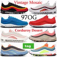 New 97OG running shoes triple black summit white Vintage Mosaic London summer of love Olympic rings pack corduroy desert sneakers trainers