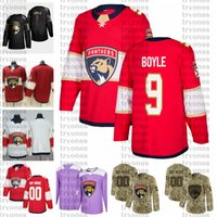 ingrosso hockey jerseys camo-2021 Personalizza # 9 Brian Boyle Florida Panthers Jerseys Golden Edition Camo Veterans Day Fights Cancer Custom Possitched Hockey Jerseys