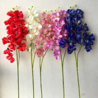 Wholesale freesia for sale - Group buy Black Friday Fake Long Stem Gladiolus Stems piece Simulation Freesia for Wedding Home Showcase Decorative Artificial Flowers