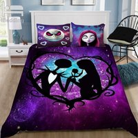 Wholesale 3d bedding set california king resale online - Nightmare Before Christmas D Bedding Set Printed Duvet Cover Set Queen King Twin Size Dropshipping Custom Q1127