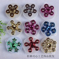 Wholesale six pack resale online - Selling Fingertip Top Three Head Six Arm Decompression Toy Packing Box WMNL