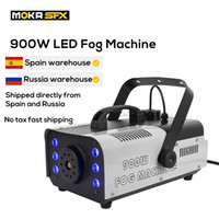 MOKA 900W LED Smoke Machine Control Fog Machine Professional DJ Equipment for Club Pub Stage Party Special Effects