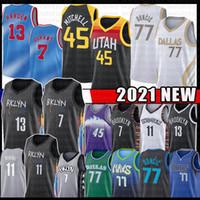 7 Kevin Luka 77 Durant 13 Harden Doncic Donovan Kyrie 11 45 Irving Mitchell Basketball Jersey Biggie Kristaps John Porzingis Stockton Gobert