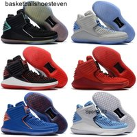 Wholesale kids discount sneakers resale online - Hot Sell Jumpman Kids Basketball Shoes Low Mens Mike s Xxxii Sky Blue Unc Gatorade Bred Discount Sport Trainer Shoe Sneakers