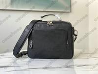 M57287 FLIGHT CASE Message Bag Mens Shadow Sloft Leather Briefcases Handbag Flower Letter Totes Purse Case Bag