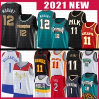 ingrosso basket memphis-JA 12 Morant Zion TRAE 11 Williamson Young Lonzo Basket Ball Jersey Ball Memphis