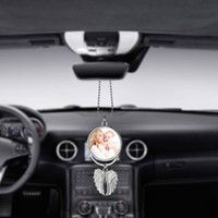 Sublimation Car Ornament Decorations Angel Wings Shape Blank Hot Transfer Printing Consumables For Car Keychain Home Decoration