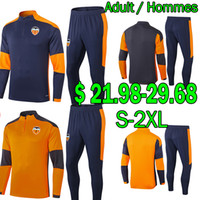 2020 2021 valencia FC soccer jersey sweater tracksuits sets Winter jackets VAL camisetas GUEDES GAMEIRO M.Gómez Training jogging Adult Kits