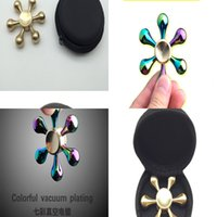 Wholesale figit spinners for sale - Group buy Golden Hand Snitch Fidget Heart Tri Finger Spinner Brass Spiner Comes Anti Relieve Stress Fidger Figit Toys Gold PNWW