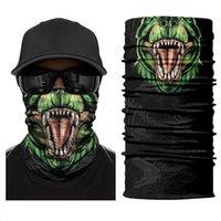 Wholesale spider man masks resale online - Spider Dinosaur Gorilla Tube Scarf Neck Gaiter d Printed Bandana Cycling Hiking Bicycle Men Women Half Face Cover Mask Headband wmtqJE