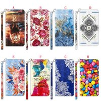 Wholesale flower case bling online – custom 3D Bling Wallet Leather Case For Samsung S30 PLUS Ultra A42 G S20 FE M51 A01 CORE M31S F41 Cartoon Flower Marble Stand Strap ID Phone Cover