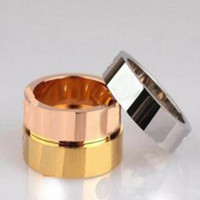 Highest level nails Screwdriver rings lovers engagement jewelry Size for Women and Men in 4mm and 6mm with BOX.