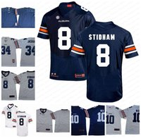 ingrosso calcio auburn-Personalizzato NCAA Auburn Football # 10 Bo Nix 8 Shaun bribitori 3 DJ Williams 4 Tank Bigsby 12 Stufa Eli 18 Seth Williams Stitch