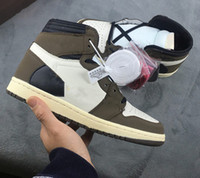 BEST New 1 high og green brown Low men basketball shoes sports sneakers trainers top quality size 4-13