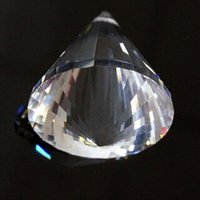 3d cone 2021 - 40mm Crystal Faceted Lamp Prism Circular Cone Pendulum Glass Art Suncatcher Pendant 3d Arrow Point Hanging Ornament Chandelier H jllGSh