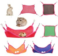 Wholesale pet rats for sale - Group buy Pet Hammock Hamster Squirrel Home Use Large Breathable Mesh Hammocks Summer Outdoor Portable Pet Squirrel Mesh Hammock ZY18