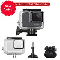 Wholesale waterproof gopro resale online - GoPro hero s waterproof diving enclosure white and silver camera accessories protective case
