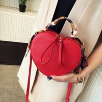 Wholesale red scarves hearts resale online - Red Leather Messenger Bag Women s Hot Sale Heart Shaped Solid Color Handbag Scarf Ladies Handbag Women Thin Strap Crossbody Bag1