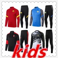 ingrosso italia tuta calcio-tuta bambino inter kids ac milan napoli as roma kids football training suit soccer tracksuit 2020 2021 kids soccer jersey survetement foot chandal futbol jogging
