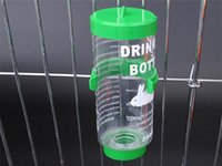 Wholesale rabbit cages resale online - Drinking Water Fountain Hamster Dog Automatic Water Feeder Bottle For Guinea Pig Rabbit Hanging Water Bottle Dispenser Feeder ml