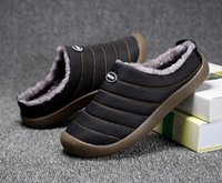 Wholesale warm slippers free shipping for sale - Group buy AX11 Hot sale large winter men s and women s semi slippers rubber soles and velvet warm dual use semi slippers