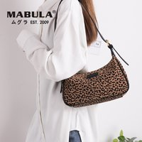 Wholesale navy printed handbags for sale - Group buy new Classic Fashion Leopard Print Lady Shoulder Bag Canvas Tote Handbag Clutch Purse for Women