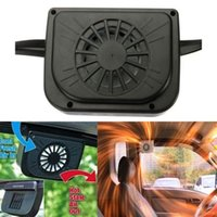Wholesale window fans resale online - New Solar Powered Car Window Windshield Auto Air Vent Cooling Fan Cooler Radiator Air Conditioner Ventilation Gills Cooler