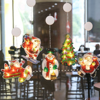 Wholesale houses christmas lights for sale - Group buy Christmas Decor LED lights string hanging lights With sucker hook Christmas Party house Room decoration lanterns shop window Decor light
